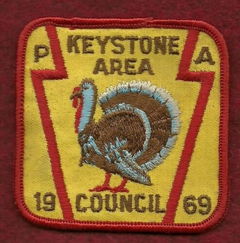 VINTAGE  BOY SCOUT 1969  KEYSTONE AREA COUNCIL PATCH