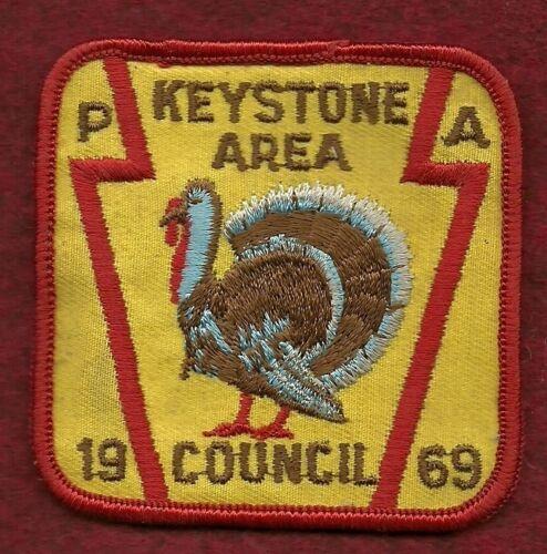 VINTAGE  BOY SCOUT 1969  KEYSTONE AREA COUNCIL PATCH
