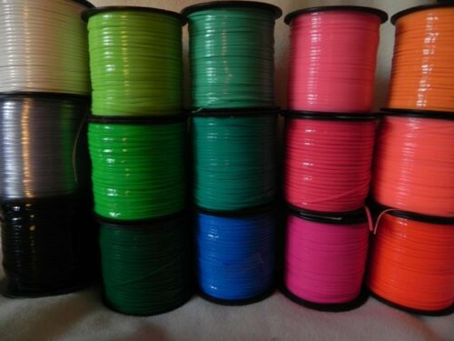 15 Light-to-Dark Rainbow #2 ~ 2 YDs Each ~30 YDs Rexlace Plastic Lace NO SPOOLS