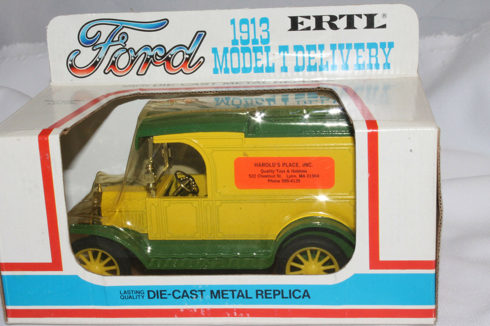 604ms Ertl Harold's Ort Private Label Lkw, 1913 Model T Ford, Mint Verpackt