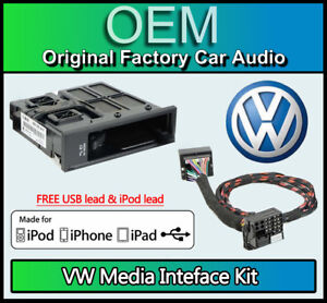 VW-MDI-Kit-media-in-VW-Golf-MK6-iPod-iPhone-USB-lead-connection-GENUINE-PART