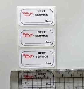 100-Oil-change-MATT-PLASTIC-service-sticker-40-x20mm