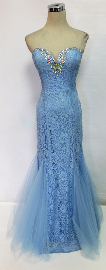 NWT MASQUERADE  150 Light bluee Ball Prom Formal Gown 5