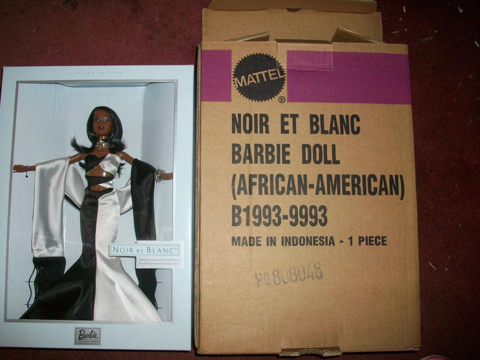 negro Et blanco Barbie 2003 AA Raro