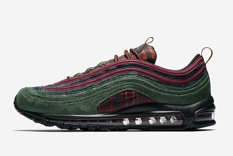 2018 Nike Air Max 97 NRG SZ 6.5 Jacket Pack Team Red Midnight Spruce AT6145-600