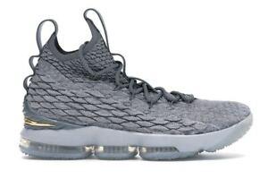 Nike LeBron 15 XV Wolf Grey Gold Size