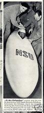 NSU Baumm Liegemotorrad Bildbericht 1954 Luftwiderstand Liegefahrrad Motorrad