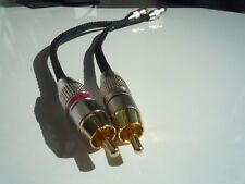 Kimber Kable PBJ Stereo Cinchkabel NF-Kabel 0,25m vergoldete Stecker Gewebeschla