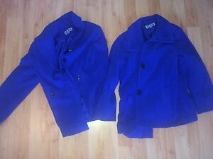 Lot Blue Xl Button Coats Collection Coat L 2 Pea Jm Blend Og 7ZrA7q