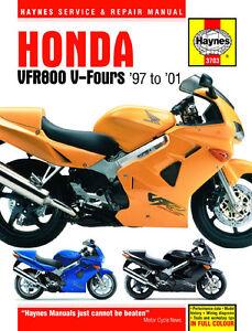 Haynes-Manual-3703-Honda-VFR800-V-Fours-97-01-workshop-service-amp-repair