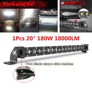 20inch 180W Slim Single Row 6D Spot Beam Off-Road LED Work Light Bar Waterproof