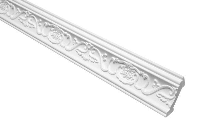 100 Meter Eckleiste Stuckprofil Deckenleiste Zierleiste Styropor EPS 53x53mm B-7