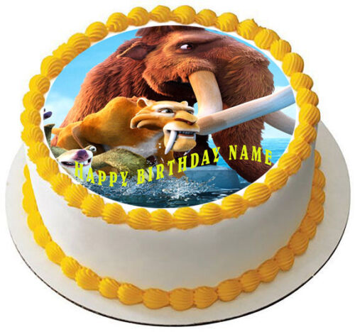 Ice Age Edible Cake Topper OR Cupcake Topper Decor