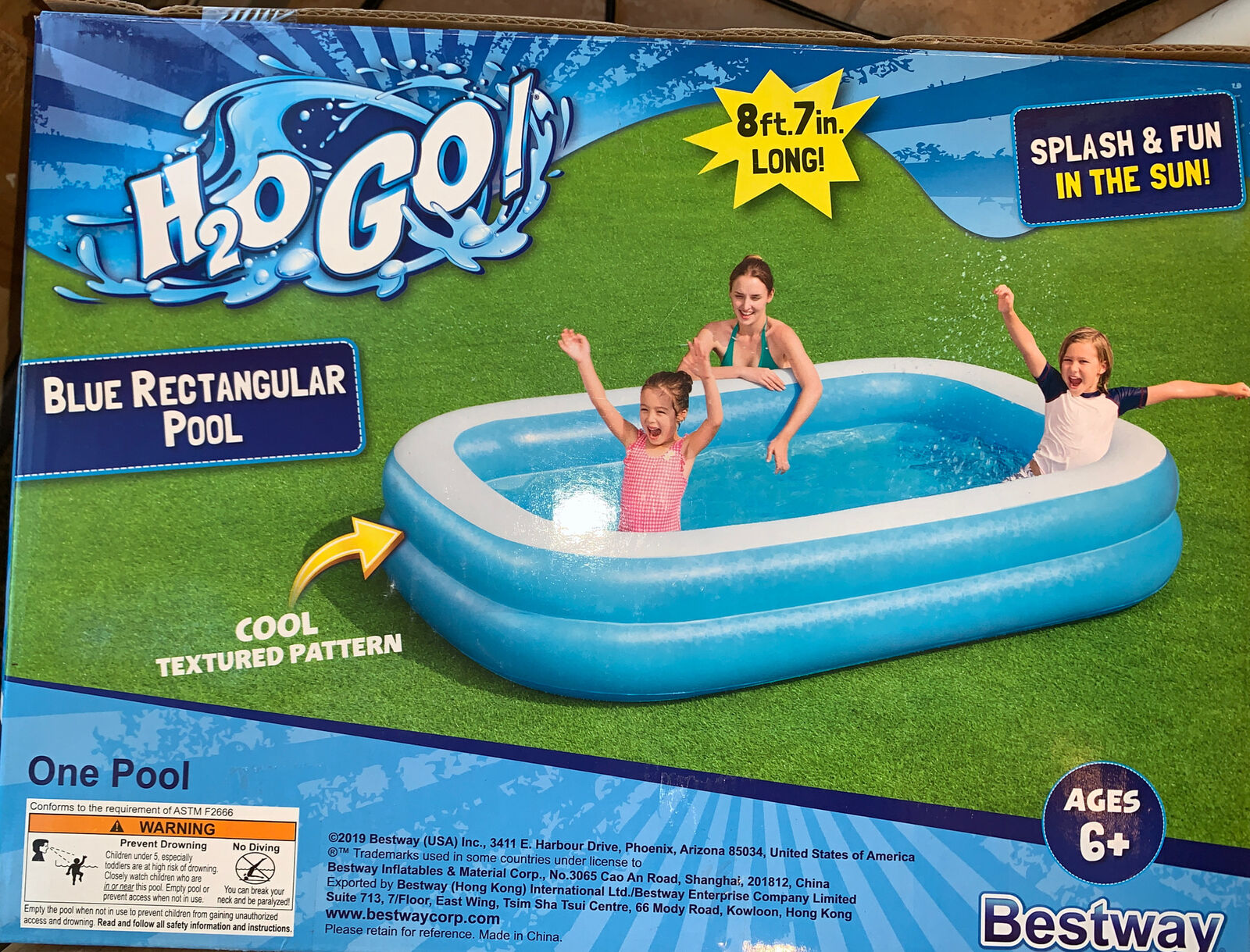 NIB Bestway H2OGO! Blue Family Inflatable Swimming Pool - FAST SHIPPING