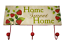 Coat-Robe-Hooks-Rack-Kitchen-Strawberry-Design-Home-Sweet-Home-Plaque-SG1294 thumbnail 1