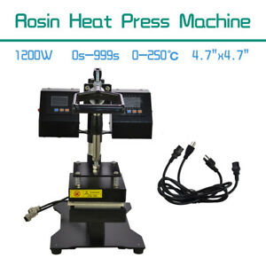 Details about NEW Rosin Heat Press Machine Dual Heating Elements Swing-Arm  Manual