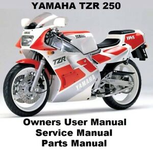 yamaha tzr250 owners service repair workshop manual pdf on cd r rh ebay co uk Yamaha TZR 250 Specs Yamaha TZR 250 Engine Swap