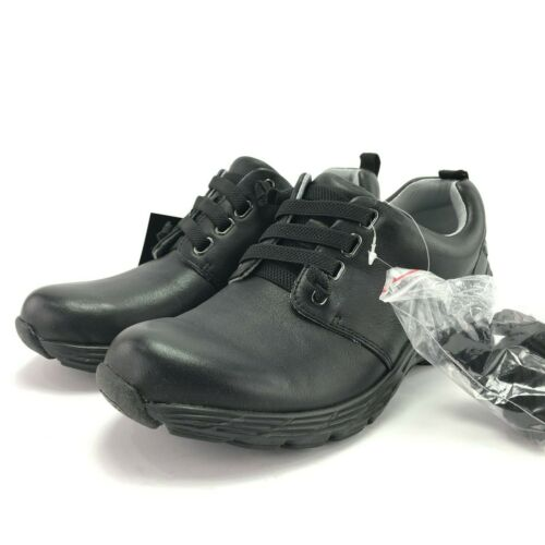 B Nurse Mates Align Womens Velocity Slip Resistant Black Leather Comfort Shoes