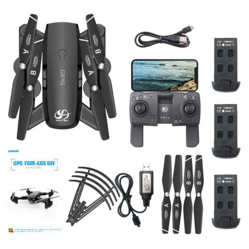 3Battery CSJ S166GPS Drone w//Camera 1080P WIFI FPV Gesture Photos RC Quadcopter