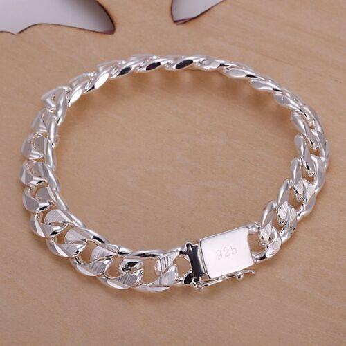 Nice Sterling Argent Massif Bracelet DAH032 BOX
