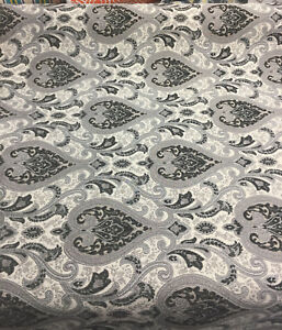 Charcoal-Damask-Fabric-Chenille-upholstery-Fabric-by-the-yard-sofa-chair-couch