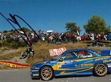 Stephane Sarrazin Hand Signed Subaru World Rally Team Photo 7x5 12.