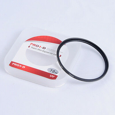 72mm UV Ultra Violet Filter Lens Protector For Canon Nissin Sunpak Olympus Sigma