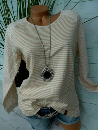 42 bis 50 gestreift große Größen Pulli Shirt Damen Fiora blue Gr 027