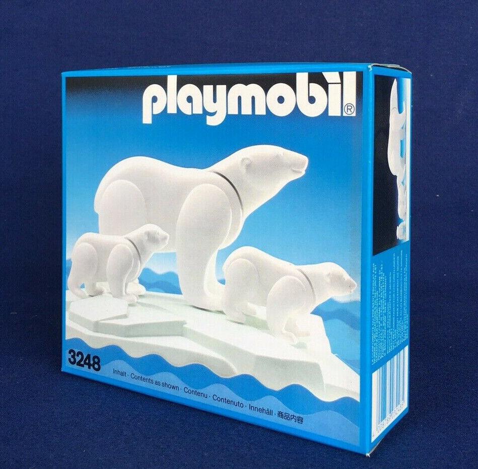 Playmobil Vintage Retirot 3248 Polar Bear And Cubs - New Sealed MIB - 1990s