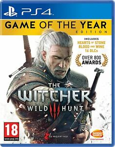 The Witcher 3 III: Wild Hunt - Game of the Year Edition PS4 PlayStation