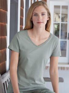 Hanes-Nano-T-Women-039-s-V-Neck-T-Shirt-S04V