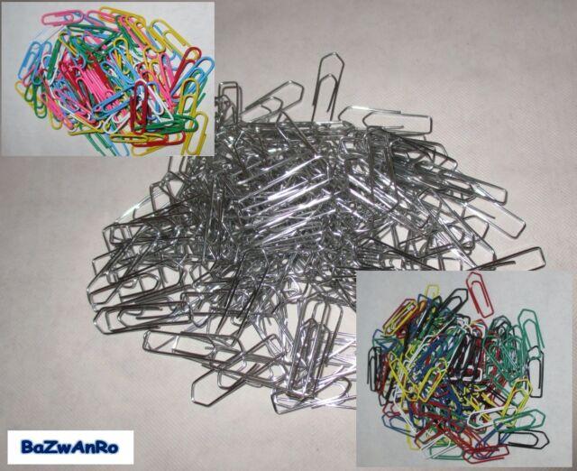 200x Büroklammern 26mm farbig gestreift Zebra Aktenklammern Briefklammern Alco
