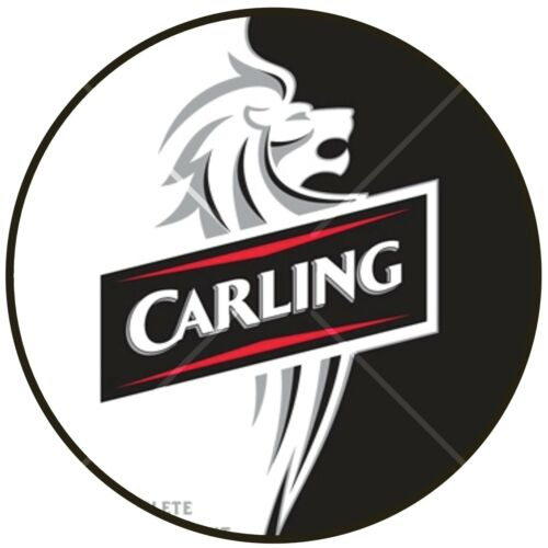 CARLING BEER CAN /& BOTTLE edible icing cake topper add message