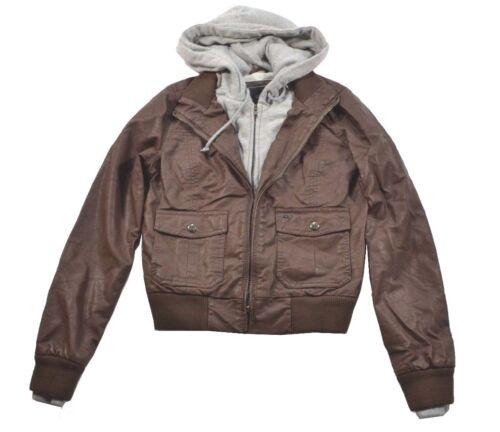 Obey JEALOUS LOVER Brown Built In Zip Up Gray Liner Hoodie Junior/'s Jacket