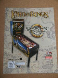 Pinball machine FLYER - Stern Lord Of The Rings  (combined post - Use BASKET)