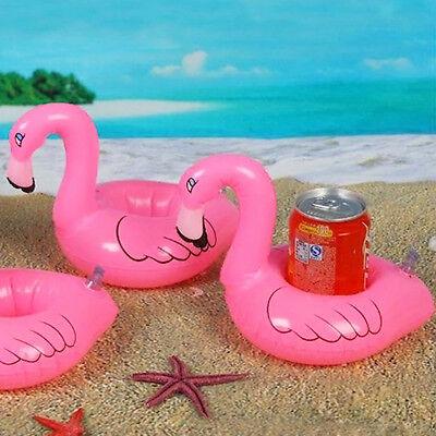 Nette Flamingo schwimm aufblasbare Getränkehalter können Badespielzeug Pool 1PC