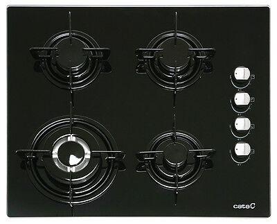 Cata CI 631 autarkes Gaskochfeld,schwarzes Glas, WOK-Brenner, 60 cm,