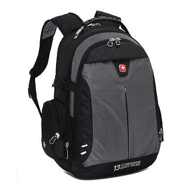 "15.6"" Laptop Swiss gear Backpack Computer School Rucksack Bag Men Travel Large"