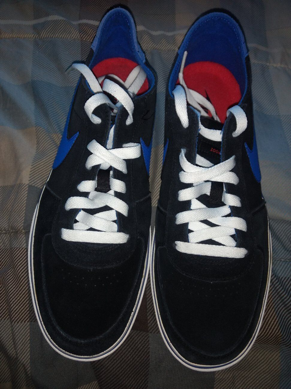 Nike 6.0 Zoom Marvk Men's Size 10 Black Blue Skater Shoes Skateboard 472617-041