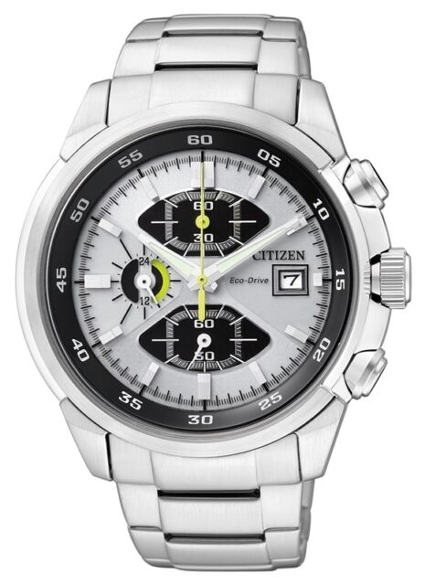 CITIZEN ECO-DRIVE CHRONOGRAPH WR 100m SPORTS WATCH SPECIAL PROMO CA0130-58A