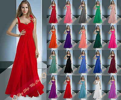 Chiffon Bridesmaid Dresses Long Prom Party Ball Evening Wedding Gown Size 6-26