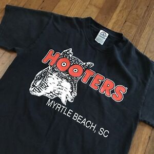 Vintage-HOOTERS-T-shirt-Tee-Myrtle-Beach-Small