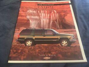 1998-Chevy-Chevrolet-Tahoe-SUV-Original-Color-Brochure-Prospekt