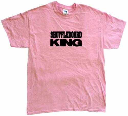 Shuffleboard King Mens Tee Shirt Pick Size Color Small 6XL S//S L//S or Sleeveless