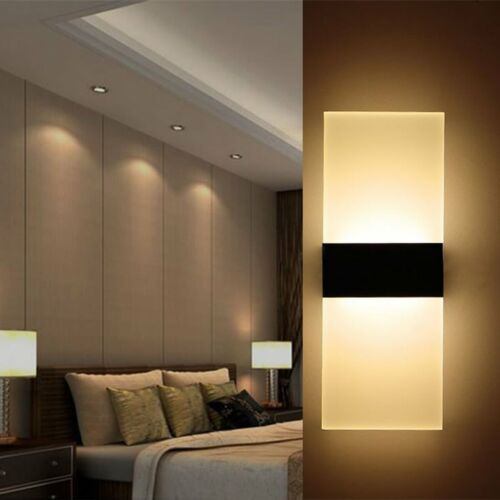 LED Wall Light Up Down Wall Lamp Sconce Lighting Indoor Sleek Modern Style