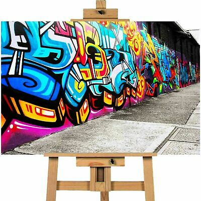 Vibrant Graffiti Street Art Canvas Print