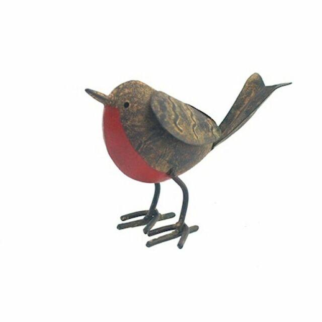 Tin Robin -  Decorative Garden Outdoor Metal Bird Ornaments - Ascalon