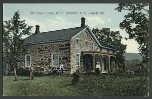 West-Shokan-Olive-Ulster-Co-NY-c-1907-10-Postcard-OLD-STONE-HOUSE-Now-Flooded