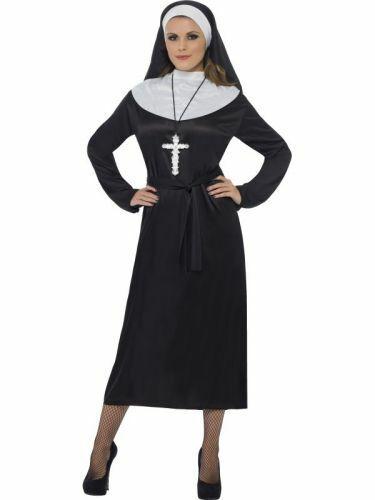 Nonne Kostüm Frau Klosterfrau Geistliche Fasching Karneval Damen