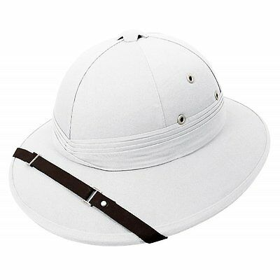 White Pith Helmet England Rugby World Cup 2015 Football Fancy Dress
